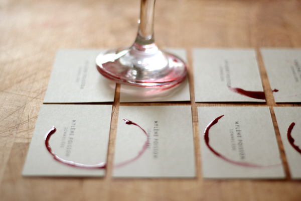 Wine Stain Business Card