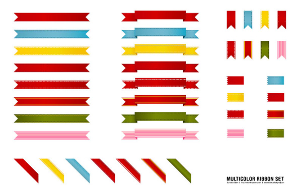 12 Free Stylish Vector Ribbon Graphics