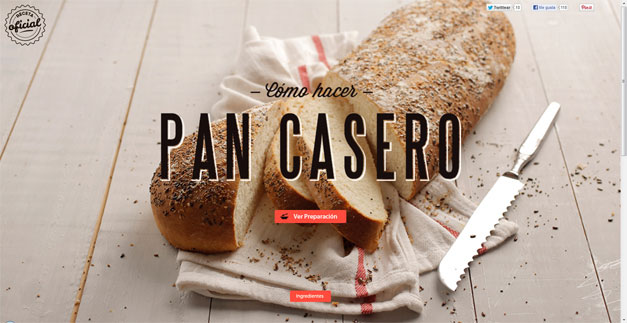 Fullscreen Website Pan Casero