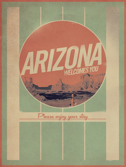 Arizona Vintage Poster Design