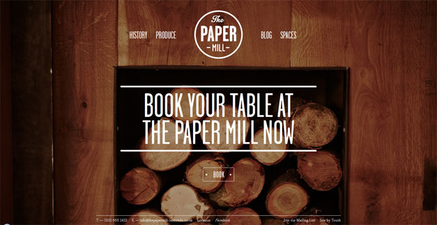 Fullscreen Website Paper Mill