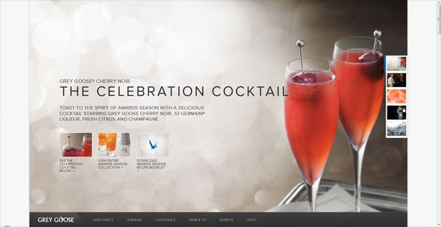 Fullscreen Website Grey Goose