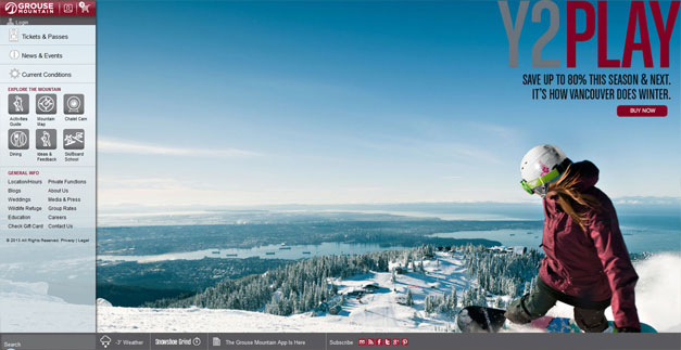 Fullscreen Website Grouse Mountain