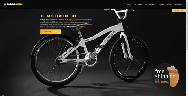 Fullscreen Website Yess BMX