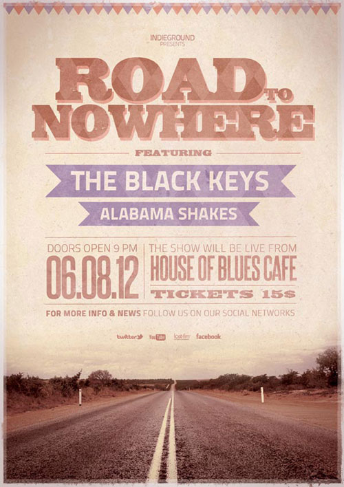Vintage Poster Design Road Nowhere