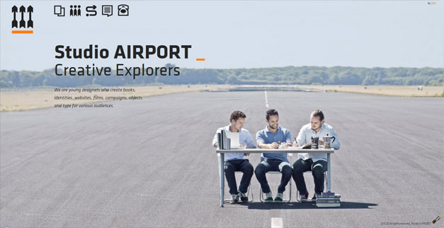 Fullscreen Website Studio Airport