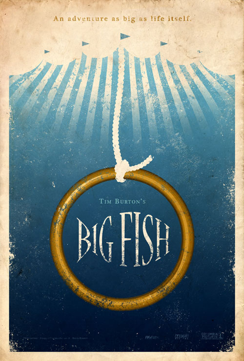 Vintage Poster Design Big Fish
