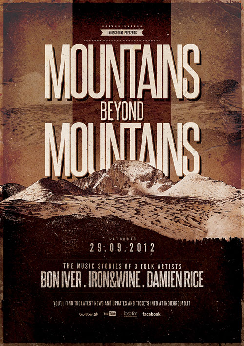 Vintage Poster Design Mountains
