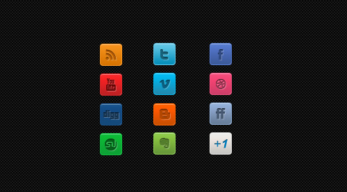 Clean Social Media Icons