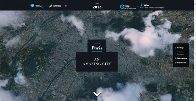 Fullscreen Website Paris 3D