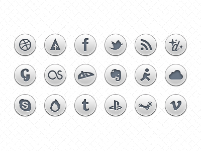 Light Grey Social Media Icons