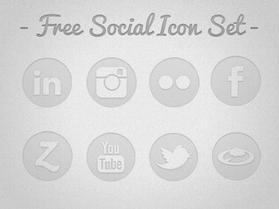 Translucent Social Media Icons