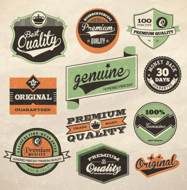 Vintage Vector Label Set