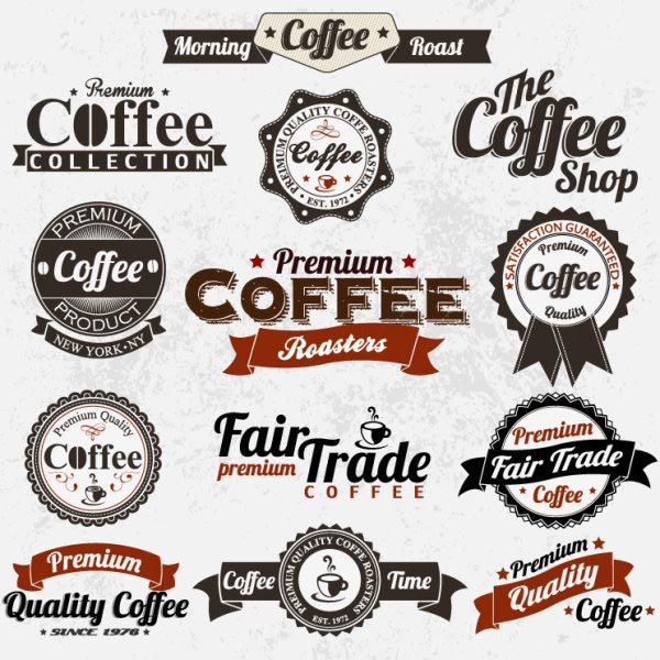 Vintage-Coffee Labels Design Elements