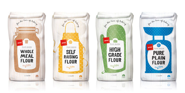 Pams Flour Packaging Design