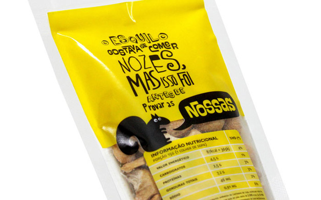 Nossas Nuts Packaging Design