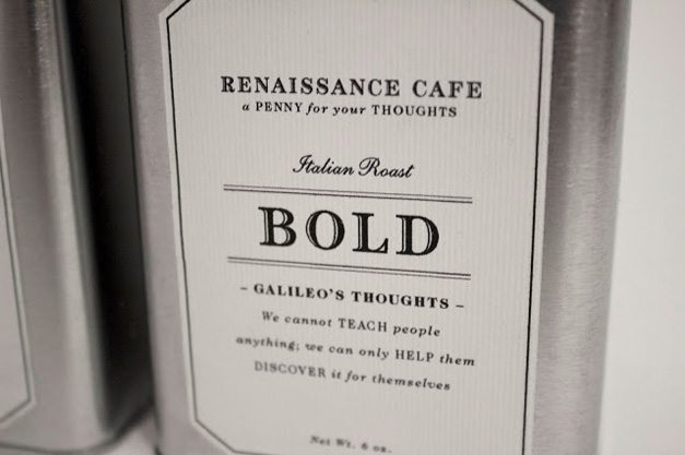 Renaissance Cafe Packaging Design