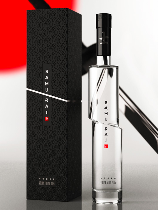 Samurai Vodka Packaging Design